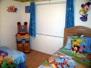 Disney Bedroom with TV and gamecube